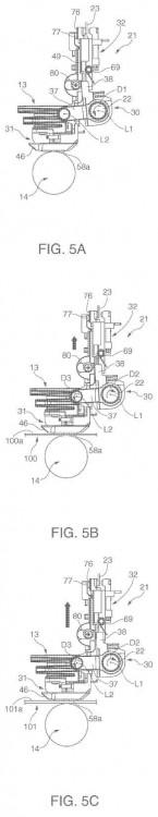 Mecanismo de ajuste de separación de cilindro e impresora.