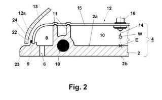 Dispositivo de planchado a vapor.