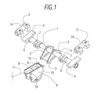 Sistema de acoplamiento de un elemento auxiliar en una silla de ruedas.