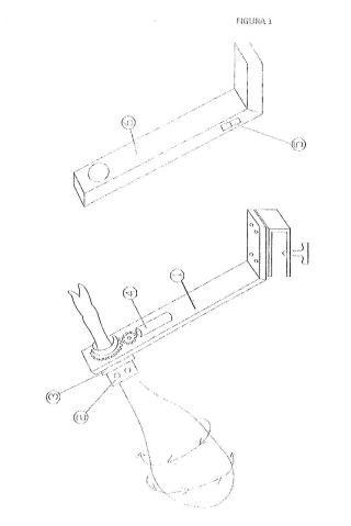 Jamonero eléctrico giratorio que sujeta la pieza a cortar solamente por la parte de la pezuña.