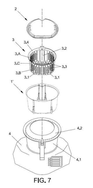 Utensilio de robot de cocina de cocción con vapor de agua.