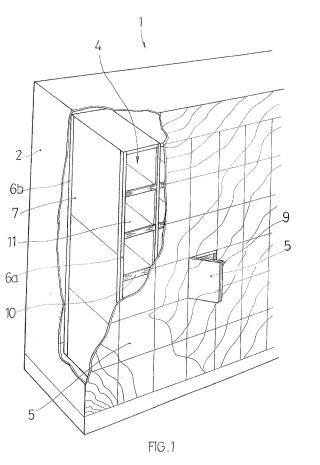 Estructura memorial para urnas cinerarias.