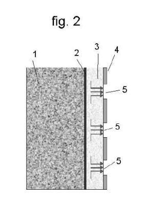 Conjunto multicapa en base cemento, aplicable como soporte biológico para fachadas de edificios u otras construcciones.