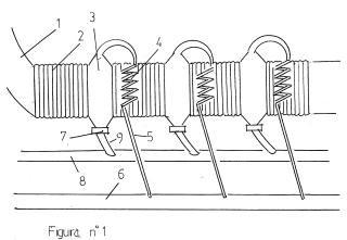 Evaporadora de agua salada con microtubos en los solenoides.