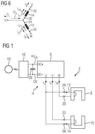 Procedimiento para hacer funcionar un vibrador trifásico de un cojinete magnético alimentado por convertidor.