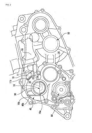 Estructura de lubricación para un motor.