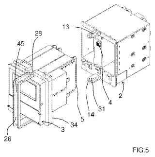 Dispositivo de soporte extraíble para equipamiento eléctrico.