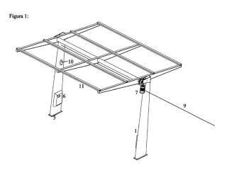 Marquesina-Seguidor solar de un eje.