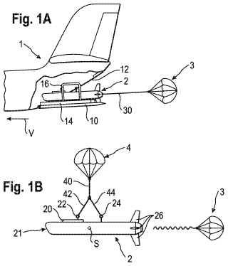 Procedimiento de lanzamiento de un artefacto volador no tripulado desde una aeronave.