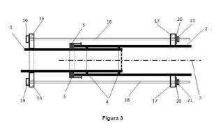 Dispositivo de longitud variable en conducciones de fluidos y procedimiento de uso.