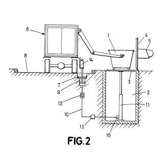 Mecanismo hidráulico de elevación para contenedores soterrados de residuos sólidos urbanos, y elemento accionador.