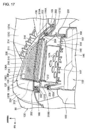 Estructura de alojamiento de vehículo tipo motocicleta.