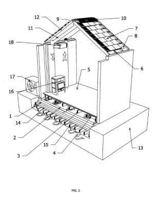 Sistema de climatización termoactivo por aire con fuentes energéticas múltiples e integración arquitectónica.