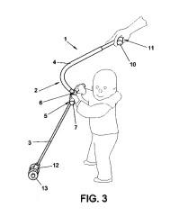 Bastón andador para bebés.