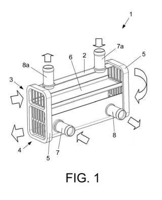 Intercambiador de calor para gases, en especial de los gases de escape de un motor.