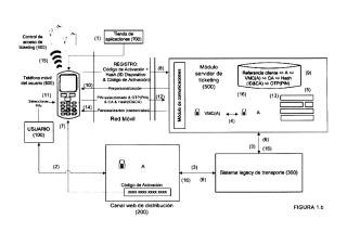 Método y sistema para habilitar ticketing/pagos móviles sin contacto por medio de una aplicación de teléfono móvil.