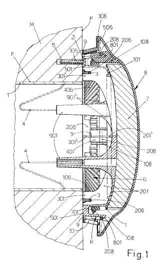 Dispositivo amortiguador de sonido para orificios o tubos de ventilación en salas de edificios.