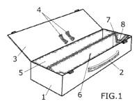 Dispositivo craneal perfeccionado con detector rotativo de inclinación.