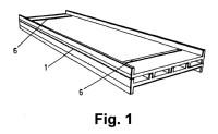 Dispositivo para el montaje de ladrillos de vidrio.