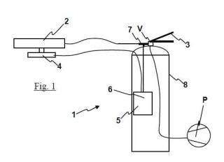 Extintor modificado para entrenamiento y sistema portátil para el entrenamiento provisto de dicho extintor modificado.