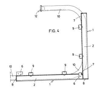 Dispositivo de soporte presentador de los terminales tubulares a acoplar a una instalación de calefacción con radiadores de agua caliente.