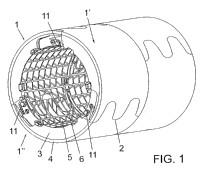 Contra-matriz para los cilindros de máquinas de corte con matrices giratorias.