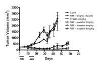 Nanopartículas de paclitaxel y albúmina en combinación con bevacizumab contra el cáncer.