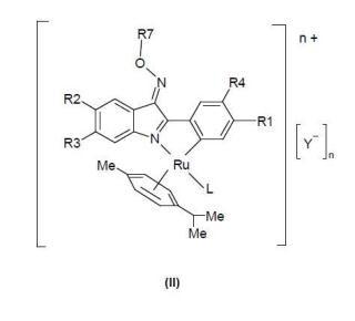 Compuestos antitumorales de rutenio (II).
