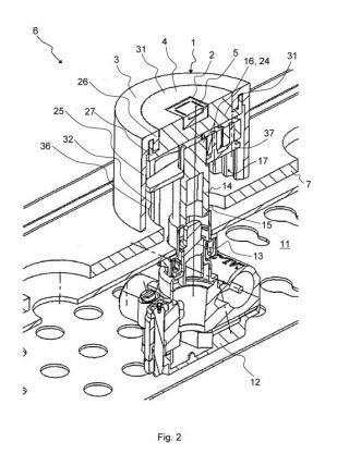 Dispositivo de mando para un aparato de cocción calentado a gas.