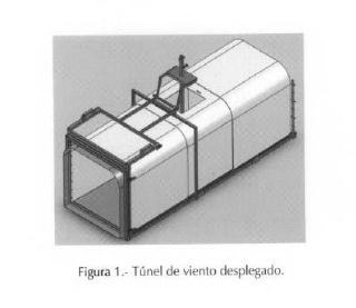 Túnel de viento para el estudio de la erosión eólica.