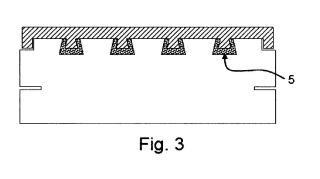 Sistema de unión entre baldosas cerámicas y paneles aislantes de espuma sintética.