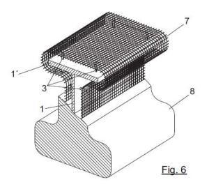 Sistema de sujeción y separación de malla metálica para la protección contra el fuego en estructuras metálicas.