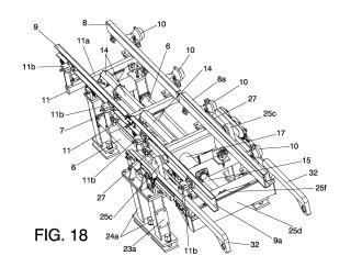 Perfeccionamientos introducidos en la patente por transportador de moldes.