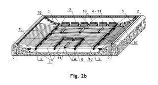 Cubierta adaptable para balsas mediante flotadores lastrados plegables.