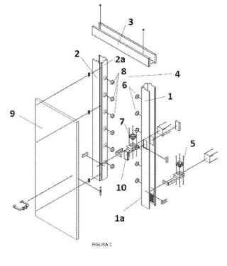 Marco de puerta con barrera de aire para contención biológica, y procedimiento asociado al mismo.