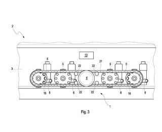 Disposición de mando para un aparato de cocción calentado a gas.