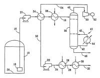Procedimiento para vaporizar gas natural licuado y de recuperación de líquidos de gas natural.