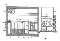 Sistema de almacenamiento intermedio para elementos combustibles procedentes de una planta nuclear, así como procedimiento para la explotación de un sistema de almacenamiento intermedio semejante.