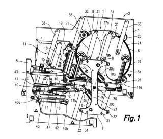 Unidad desbobinadora/rebobinadora para máquina de tratamiento de banda de lámina.