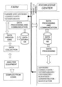 Sistema para optimizar el rendimiento de la producción de una cabaña lechera.