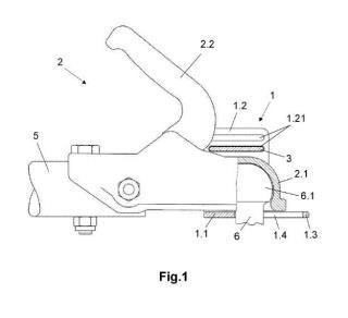 Dispositivo de protección del acoplamiento de un conjunto de vehículos.