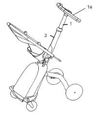Dispositivo de bloqueo para una barra telescópica de un carrito.