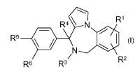 Nuevos derivados de 5,6-dihidro-4-[(difluoroetil)fenil]-4H-pirrolo[1,2-a][1,4] benzodiacepina y de 4-(difluoroetil)fenil-6H-pirrolo[1,2-a][1,4] benzodiacepina antifúngicos.