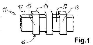Dispositivo de elemento sensor para un interruptor táctil capacitivo con un cuerpo eléctricamente conductivo y procedimiento para la fabricación de un cuerpo de este tipo.