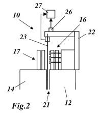 Máquina eléctrica con un rotor y con un estator y con un dispositivo para la supervisión del intersticio de aire entre el rotor y el estator.