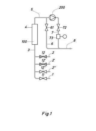 Dispositivo de medición del caudal de un fluido incompresible con medio impulsor.
