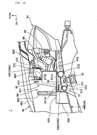 Estructura portacascos para vehículo tipo motocicleta.