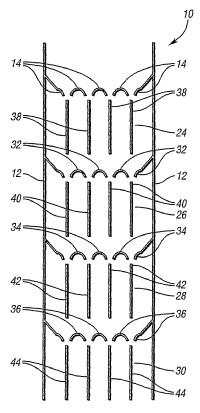 Reactor de polimerización por etapas verticales.