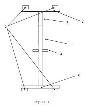 Simulador mecánico de entrenamiento de acrobacia colectiva.