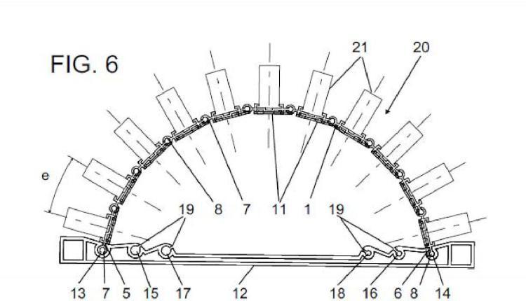 Estructura portante pirotécnica.